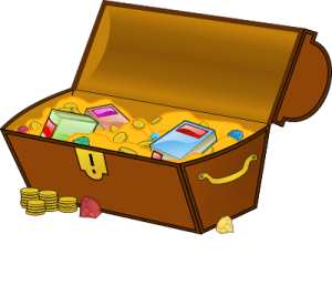 This image has an empty alt attribute; its file name is treasurechest-300x266.png